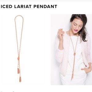 Iced Lariat Necklace